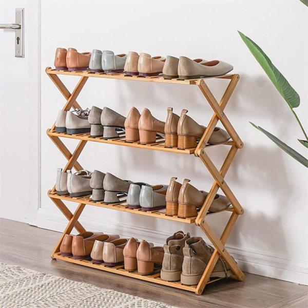 2020NEW Bamboo Shoe Rack Organizer Doorway Hallway Shoe Shelf Holder 2 3 4 5 6 Layers