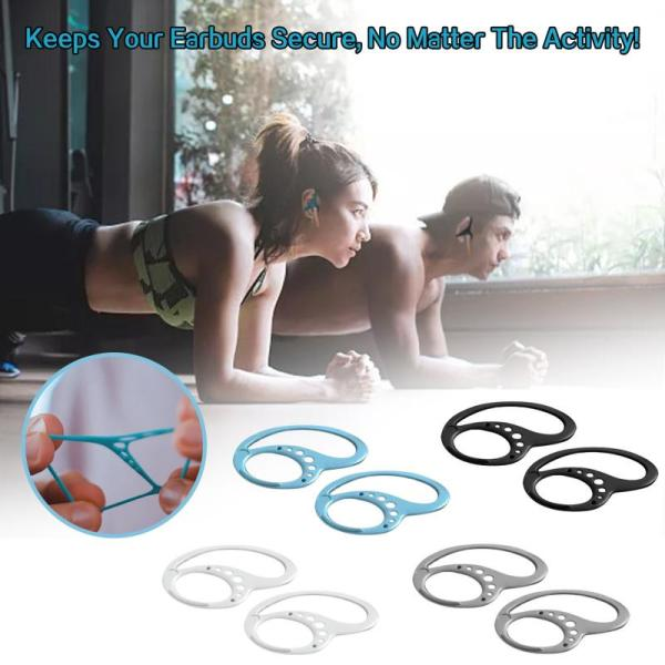 2pc Silicone Earhook Bluetooth Wireless Earphone Holder Lightweight Two Holes Portable Anti lost Earbuds Hooks For