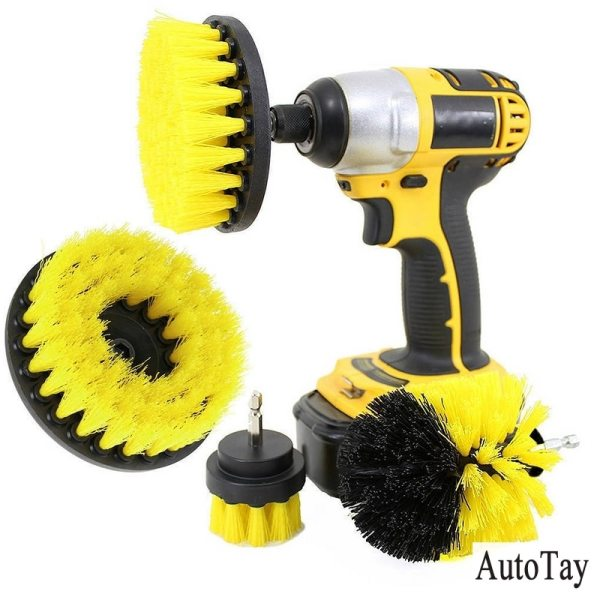 3PCS Power Scrubber Brush Set For Bathroom Cleaning Drill Scrubber Cordless Attachment Kit Power Scrub Tubs