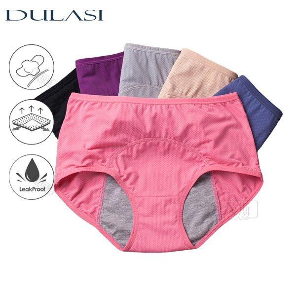 3pcs Set Menstrual Panties Women Sexy Pants Leak Proof Incontinence Underwear Period Proof Briefs High Waist