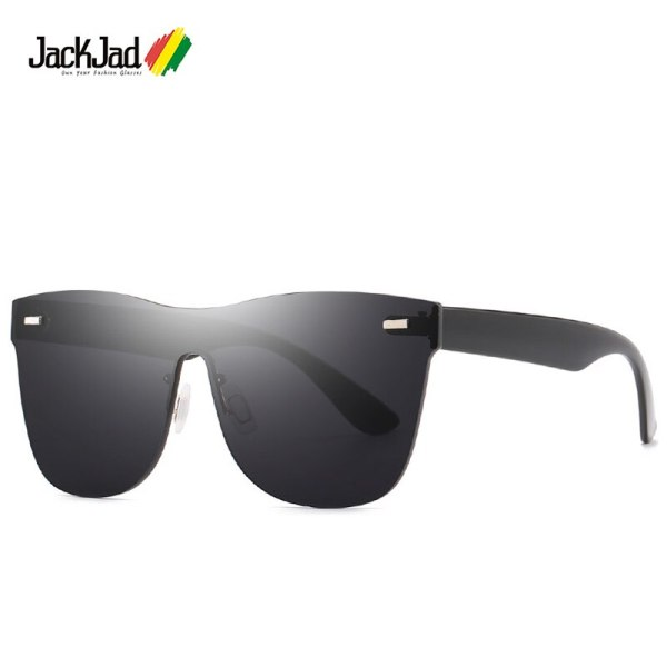 JackJad 2021 Fashion Cool Unique Rimless Style Rivets Sunglasses Men Women Mirrored Brand Design Sun Glasses