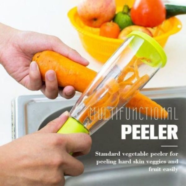 Stainless Steel Multi functional Storage Peeler With A Container For Potato Cucumber Carrot Fruit Vegetable Peeler