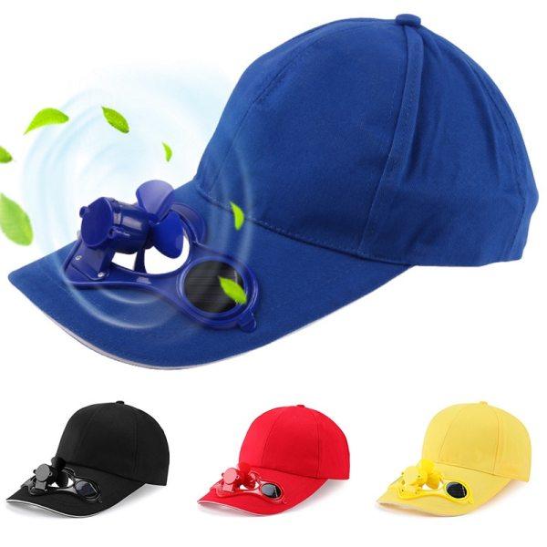 Sunscreen Solar Powered Fan Hat Summer Outdoor Sport Hats Sun Protection Cap With Solar Cool Fan