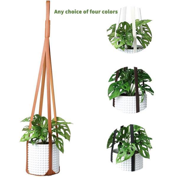30 Inch Leather Plant Hanger Hanging Planter Flower Pot Holder Home Decor For Indoor Plants Cactus