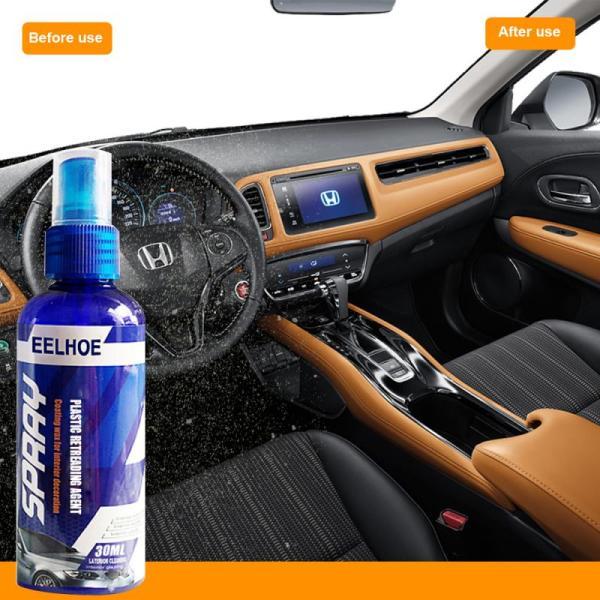 30ml Car Interior Plastic Retreading Agent Car Hydrophobic Polish Nano Coating Spray Scratch Repair Cleaning Agent