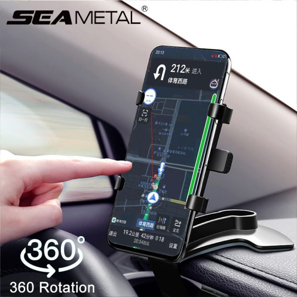 360 Degrees Car Phone Holder Universal Smartphone Stands Car Rack Dashboard Support for Auto Grip Mobile