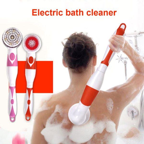 Automatic Shower Brush 4 in 1 Multifunctional Electric Bath Cleaning Massage Brush Waterproof Anti slip Shower