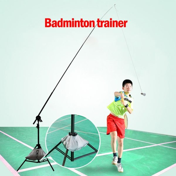Badminton Trainer Racket Machine Ball Pitching Professional Badminton Accessories Automatic Rebound Robot Badminton Training Aid