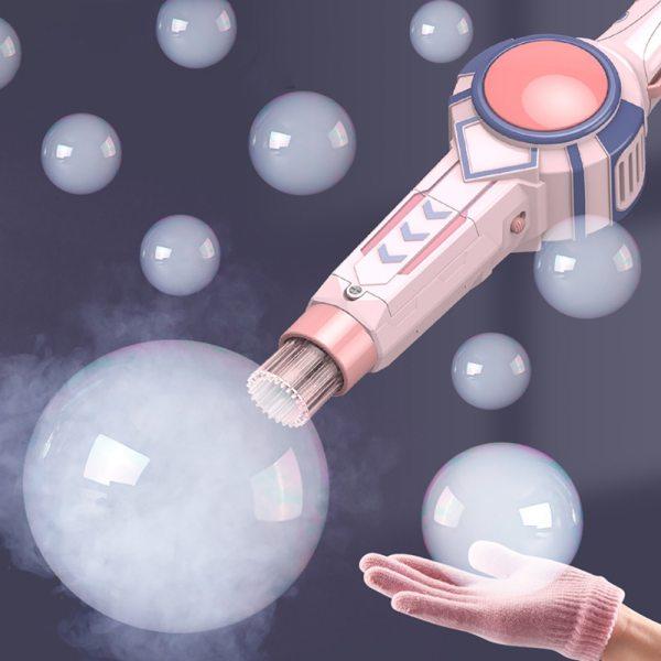 Bubble Machine Bubble Gun Bubble Maker Electric Spray Smoke Fog Bubbles Blower Toy With Gloves Bubbles