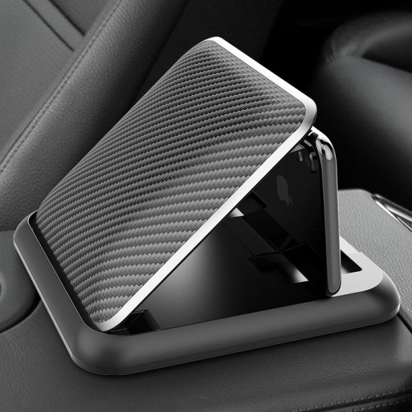 Carbon Fiber Car Phone Holder Dashboard Universal 3 to 6 5 inch Mobile Phone Clip Mount