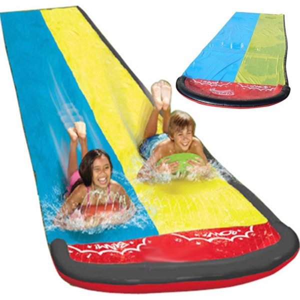 Children s Water Slide Summer Swimming Toys Outdoor Grass Water Slide Bed Double Surfboard Game Sports