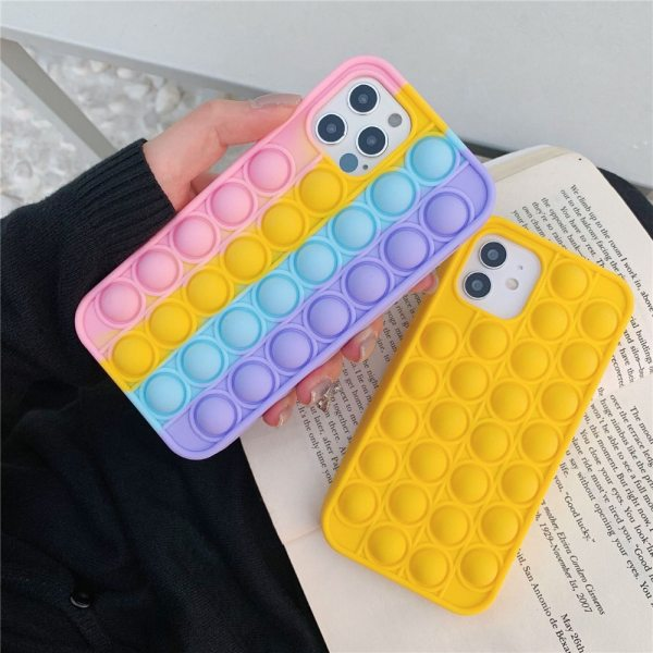 For iPhone 7 8 XS XR 11 12 Pro Max SE Case Cover Reliver Stress Pop