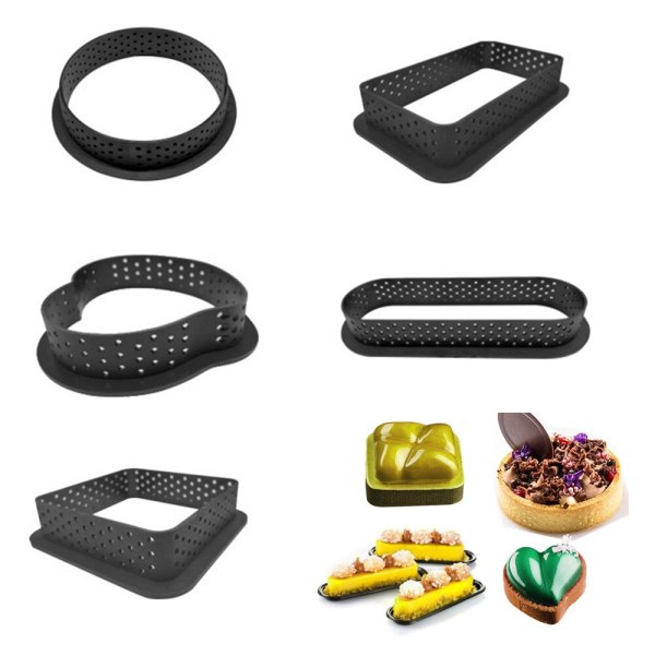 Kitchen Tools 1PC Plastic Mousse Ring DIY Mold Baking Tray Pie Ring Cake Mold Perforated Non