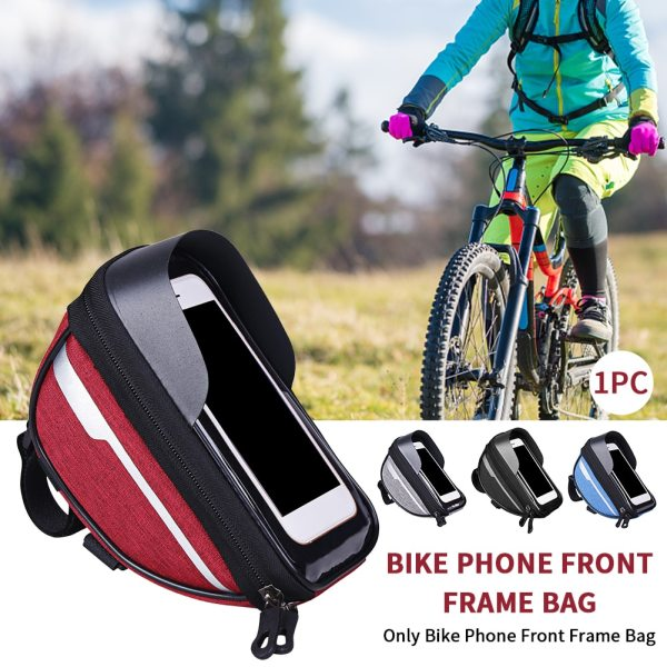 Large Capacity Touch Screen Universal Front Frame Top Tube Bike Phone Bag Cycling Accessories With Sun