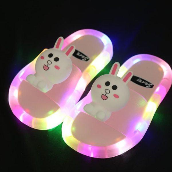 Light Up Slippers Children LED Kids Slippers Baby Bathroom Sandals Kids Shoes for Girl Boys Flip