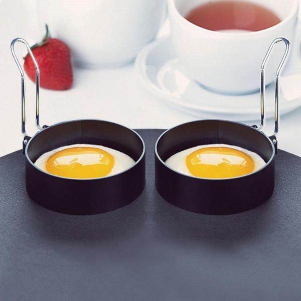 Stainless Steel Egg Cooker Fried Egg Shaper Nonstick Omelette Pancake Maker Egg Boiler Egg Mold Kitchen