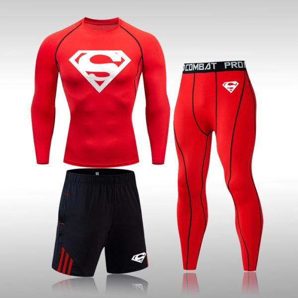 Tracksuit Men Sports Suit Gym Fitness Compression Clothes Running Jogging Sportwear Exercise Workout Rashguard Tights