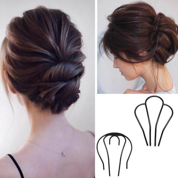 U Shape Hair Twist Styling Clip For Women Simple Wild Magic Hair Bun Maker DIY Hair