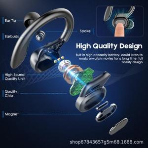 VV2 TWS Wireless Headphones Sport Earbuds Touch Control LED Display Music Headset For Iphone Huawei Xiaomi 5
