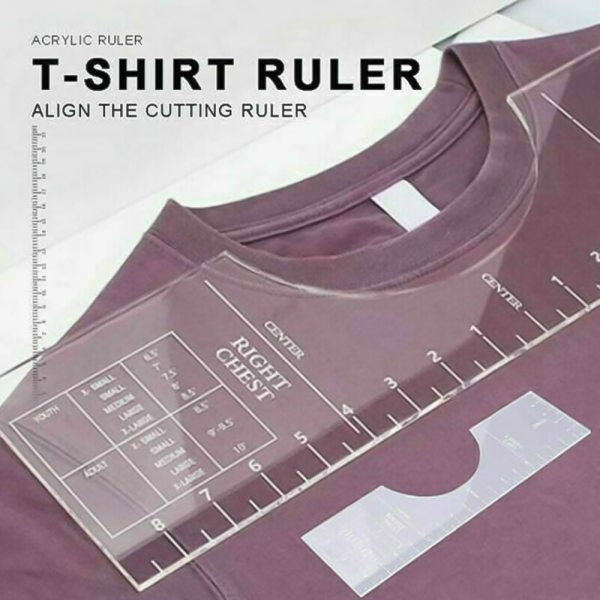 1 4pcs T Shirt alignment Ruler Centering Tool Placement Graphic Guide Tough Printed T Shirt Design