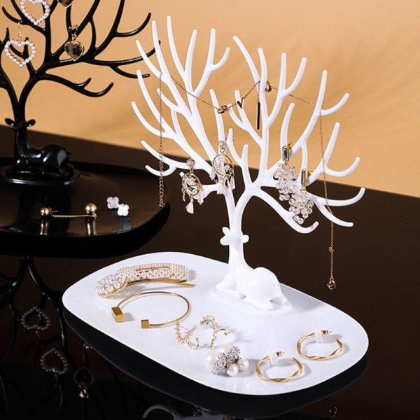 1Pcs Jewelry Stand Display Earring Holder Necklace Ring Pendant Bracelet Display Storage Racks Tray Tree little