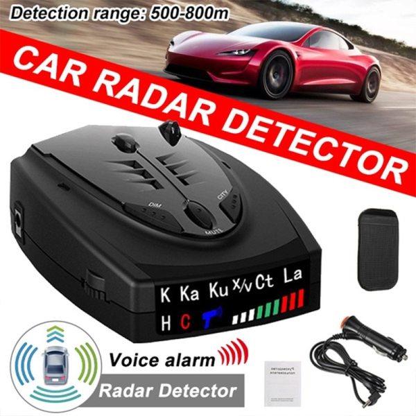 2021 Radar Car Radar Detector English Russian anti radar detector Vehicle V7 Speed Alarm Systems Security