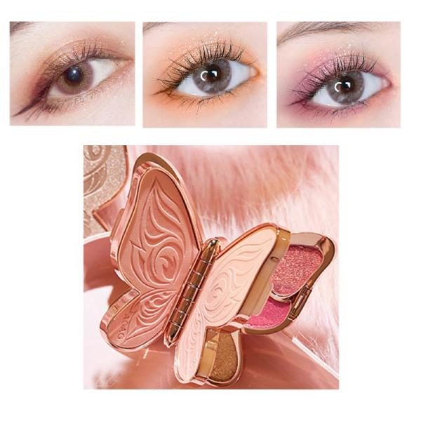 6 Colors Glitter Shimmer Eye Shadow Palette Matte Eyes Makeup Long lasting Beauty Easy to Color