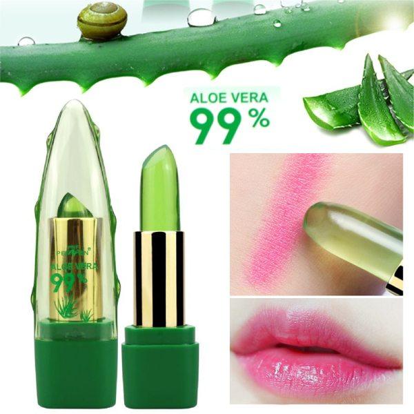 99 ALOE VERA Jelly Lipstick Temperature Change Color Moisturizing Lip Stick Pink Tint Makeup Batom