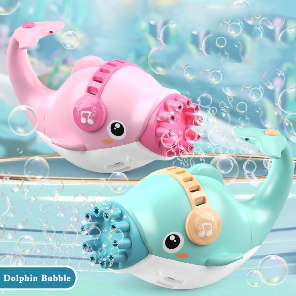 Cartoon Camera Bubble Machine Dolphin Bubble Gun Blowing Automatic Soap For Kids Summer Outdoor Children Toys