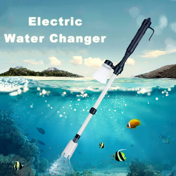 Electric Aquarium Fish Tank Water Changer Gravel Cleaner Automatic Siphon Water Filter Change Pump Cleaning Tools