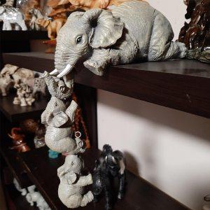 Elephant Maternal Love Sculpture