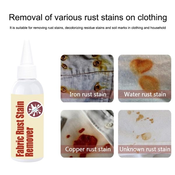 Fabric Rust Stain Remover Multi purpose Clothes Cleaner Waterless Clothing Cleansing Agent DSS899