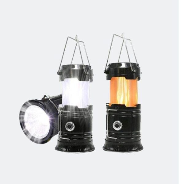 New Portable Solar Camping Tent Light Flame Lamp Lantern Flashlight Retractable Emergency light Camping Light Lantern