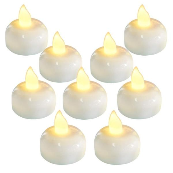 Pack of 4 Romantic Floating Candles For Wedding Party Supplies Flameless Battery DIY Candles Home Dec