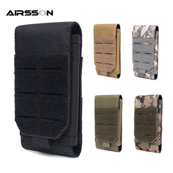 Tactical Molle Phone Pouch Waist Bag 1000D Utility EDC Gear Tool Bag Mobile 7inch Phone Case