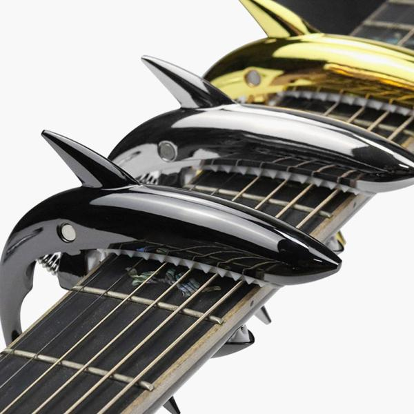 Zinc Alloy Guitar Shark Capo for Acoustic and Electric Guitar with Good Hand Feeling No Fret