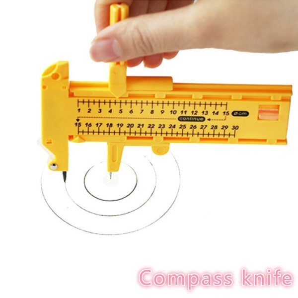 1 30cm Adjustable Compasses Circle Cutter Sewing Round Cutting Knife Patchwork Scrapbooking Cards Cutters Paper Cutting