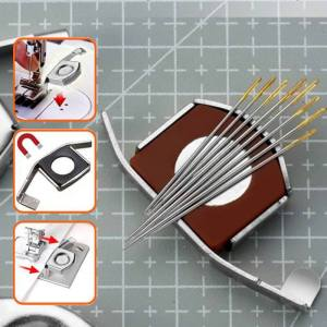 2pcs Magnetic Seam Guide Universal Magnetic Seam Guide Press Feet For Sewing Machines DIY Crafts Parts 2