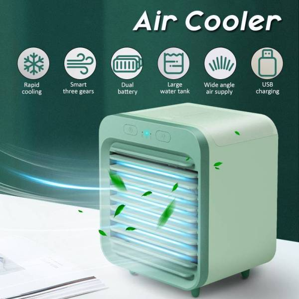 Air Cooler Fan Mini Desktop Air Conditioner with Portable USB Water Cooling Fan Humidifier Purifier Multifunction