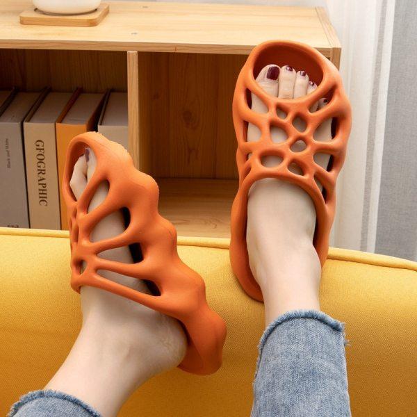Cut out Platform Slippers Women Men Fashion Beach Slides Soft EVA Lovers Indoor Batrhoom Slipper Ladies