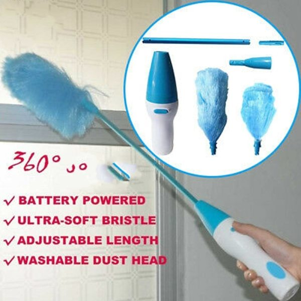 Electric Duster Feather Duster Brush Adjustable Dust Brush Vacuum Cleaner Blinds Furniture Window Bookshelf Hand Cleaning