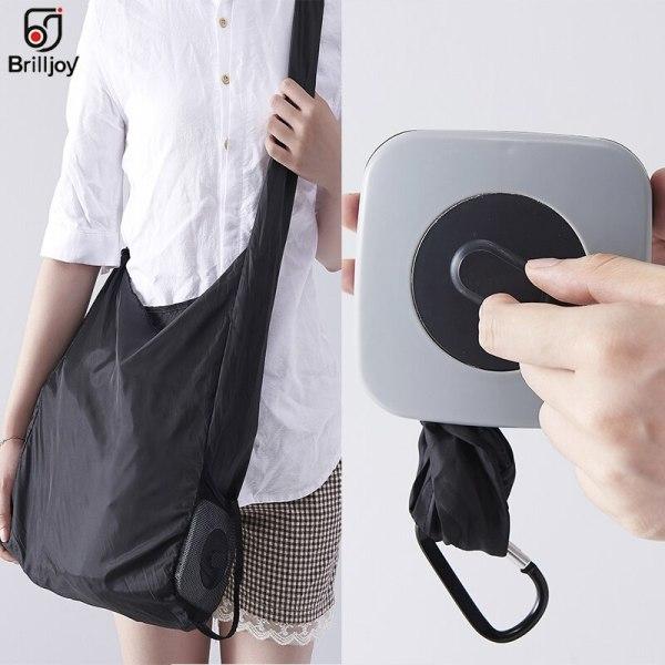 Hot Creative storage bag Handbag Foldable Shopping Bags Lightweight Waterproof Travel Bag Reusable Grocery Nylon eco