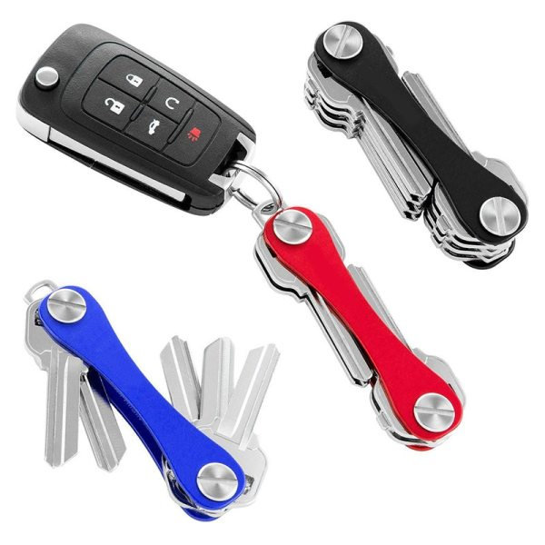 Keychain DIY Portable Compact Keys Holder Aluminum Key Clip Metal Key Smart Storage Keychain Organizer