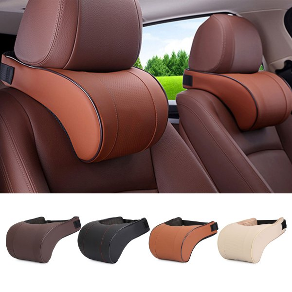 PU Leather Car Pillow Memory Foam Pillow Neck Rest Seat Headrest Cushion Pad High Quality Neck