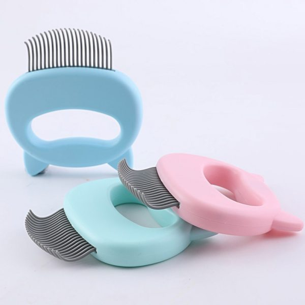 Pet Massage Brush Shell Shaped Handle Pet Grooming Massage Tool To Remove Loose Hairs Only For