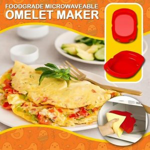 Silicone Omelette Maker Silicone Omelet Tool Microwave Oven Non Stick Omelette Maker Egg Roll Baking Pan 3