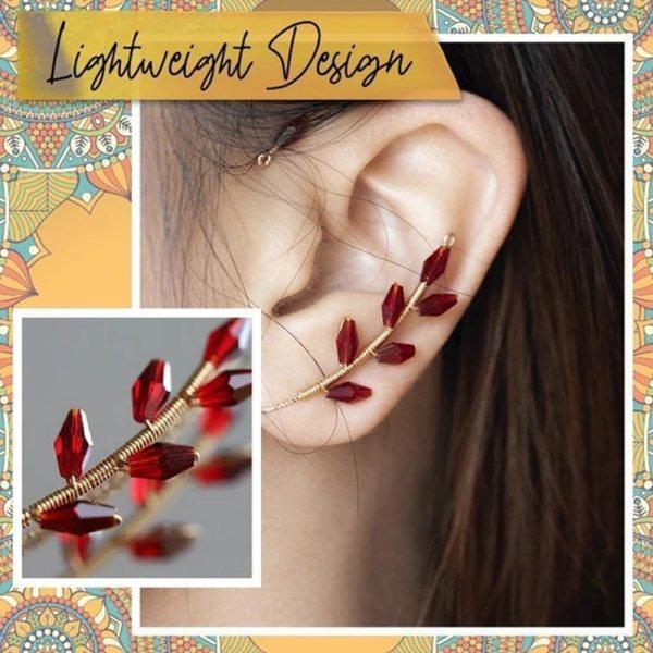 Vintage Ear Cuff Earrings Women Fashion Beading Ear Hook Non Piercing Ear Wrap Crawler Hook Earrings