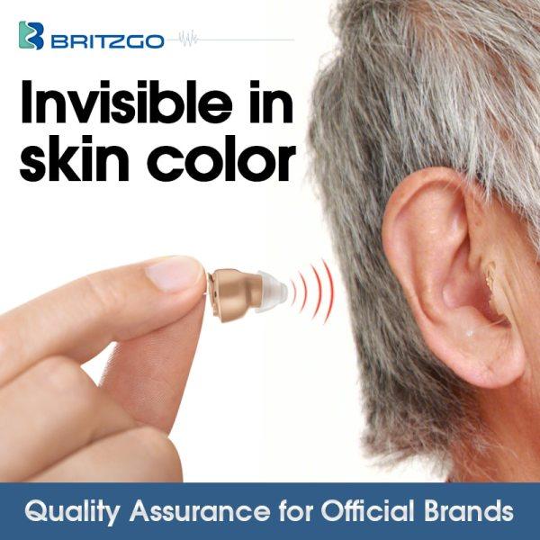 Britzgo Hearing Aid Digital Noise Reduce Mini Sound Amplifier 1 5 Grams Battery VHP 601 VHP