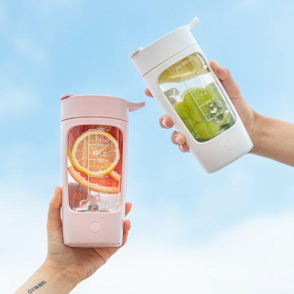 EQURA 650ml Electric Automatic Mxing Cup Mini Portable Blender Fruit Juicer Rapid Mixing Rechargable Food processor