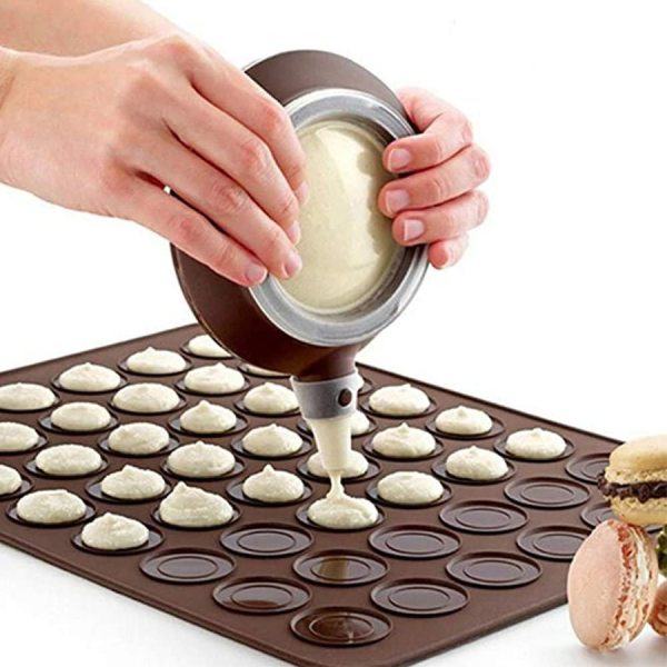 Non Stick Macaron Silicone Mat Baking Mold 30 48 Holes Silicone Pastry Baking Mat Almond Muffin